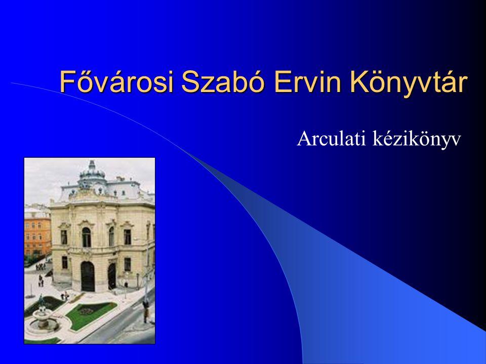 Fővárosi Szabó Ervin Könyvtár Arculati kézikönyv