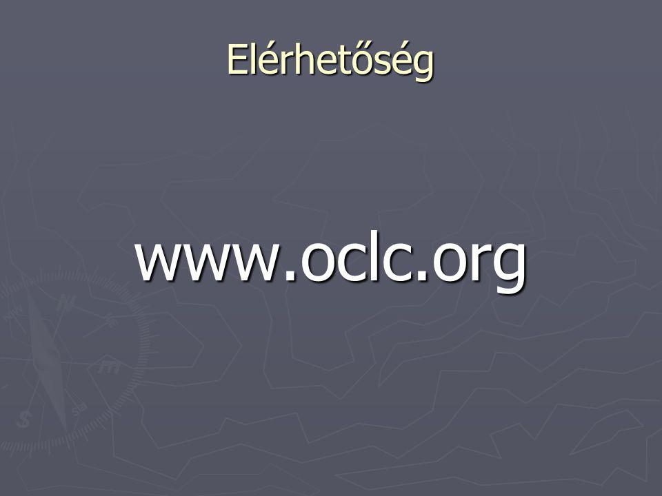 Elérhetőség www.oclc.org