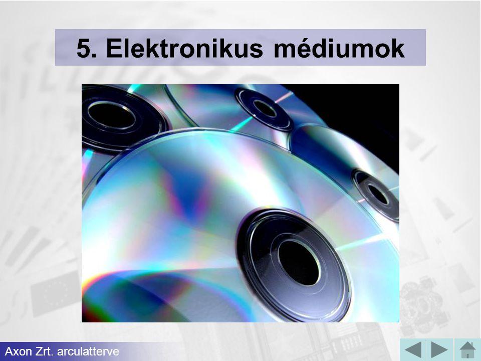 5. Elektronikus médiumok Axon Zrt. arculatterve