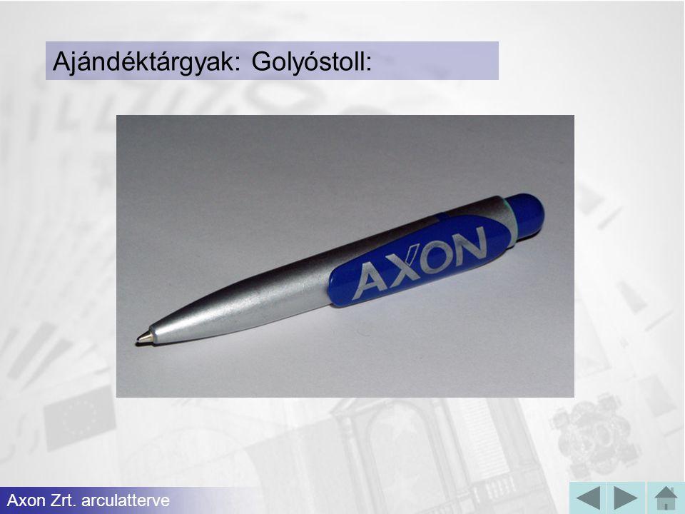 Ajándéktárgyak: Golyóstoll: Axon Zrt. arculatterve