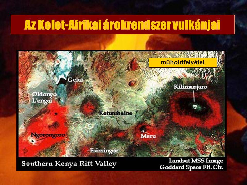 Az Kelet-Afrikai árokrendszer vulkánjai műholdfelvétel