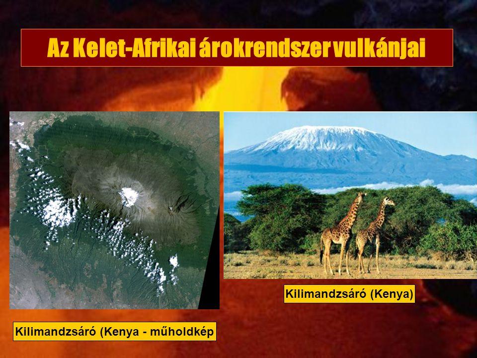 Az Kelet-Afrikai árokrendszer vulkánjai Kilimandzsáró (Kenya) Kilimandzsáró (Kenya - műholdkép