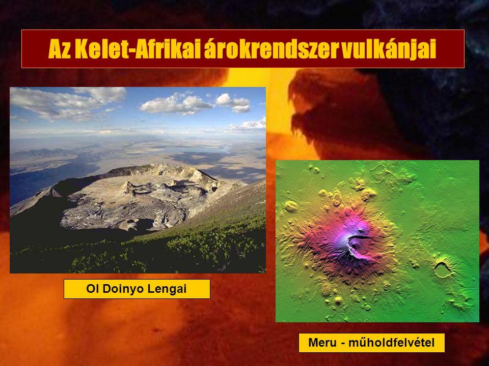 Az Kelet-Afrikai árokrendszer vulkánjai Ol Doinyo Lengai Meru - műholdfelvétel