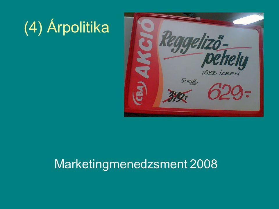 (4) Árpolitika Marketingmenedzsment 2008