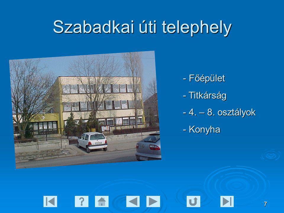 7 Szabadkai úti telephely - Főépület - Titkárság - 4. – 8. osztályok - Konyha