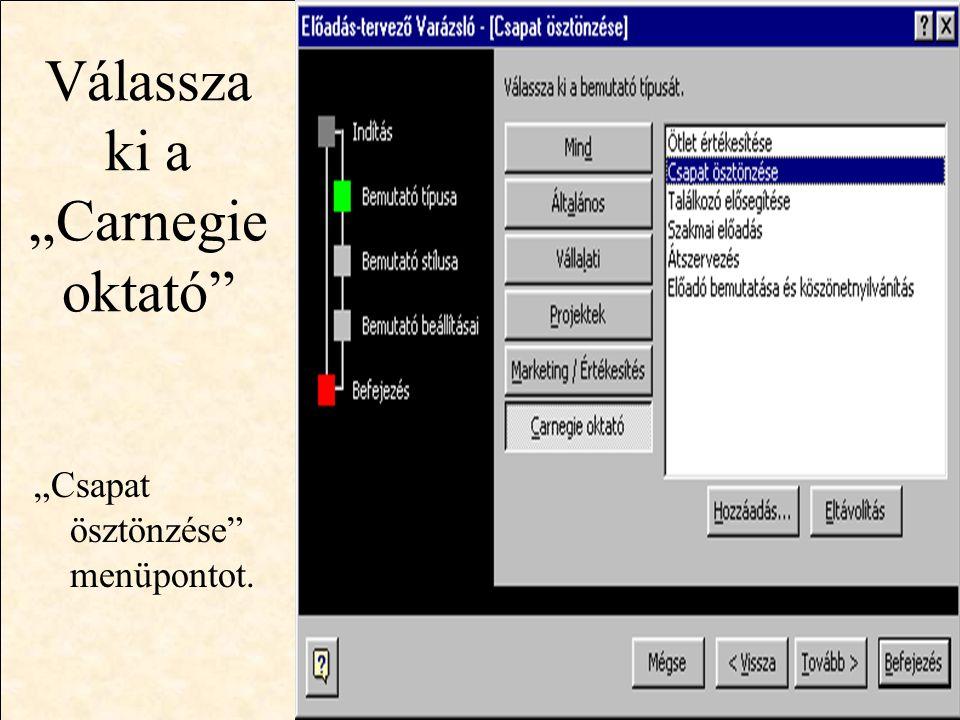 """http://wwww.ektf.hu/~forgos Válassza a """"Bemutató képernyőn menüpontot."""