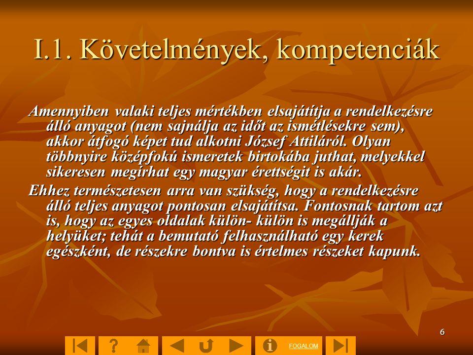 FOGALOM 47 5.1.Összefoglaló kérdések 1 Hol és mikor született József Attila.