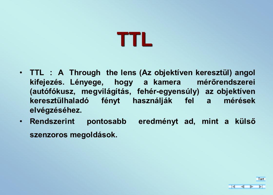 TTL TTL : A Through the lens (Az objektíven keresztül) angol kifejezés.