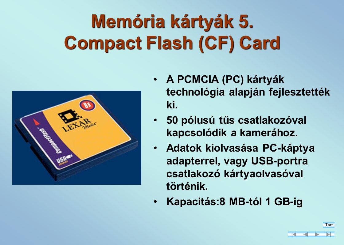 Memória kártyák 5.