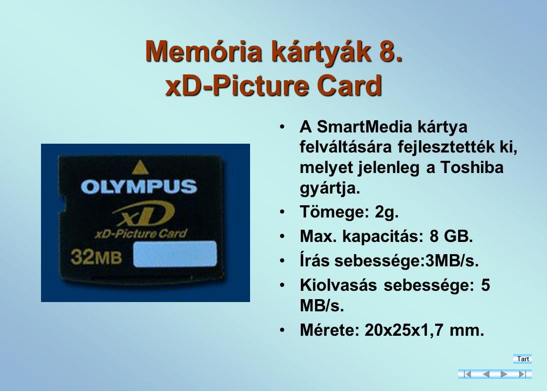 Memória kártyák 8.