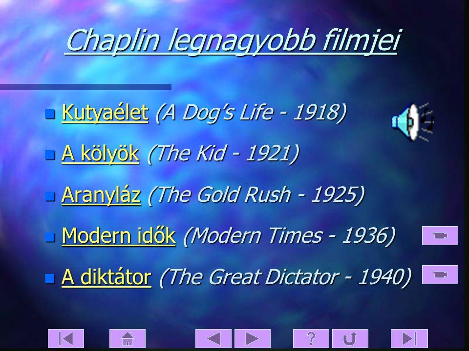 Főmenü n Főcím Főcím n Köszöntés Köszöntés n Súgó Súgó n Menüstruktúra Menüstruktúra n Főmenü Főmenü n Chaplin legnagyobb filmjei Chaplin legnagyobb f