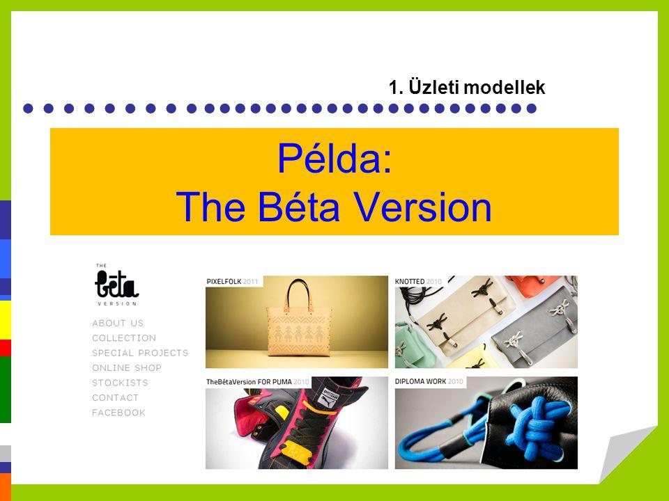 ………...................... Példa: The Béta Version 1. Üzleti modellek