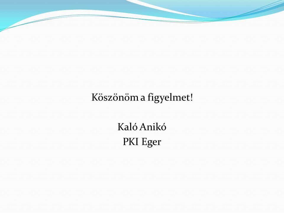 Köszönöm a figyelmet! Kaló Anikó PKI Eger