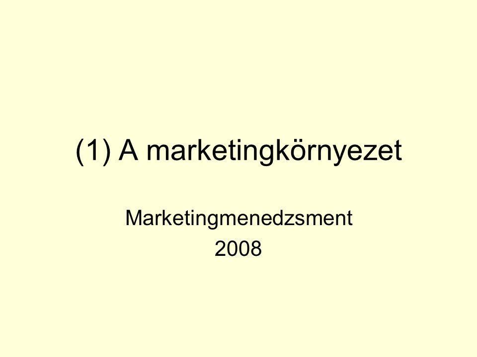 (1) A marketingkörnyezet Marketingmenedzsment 2008