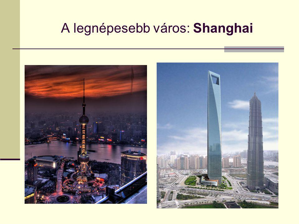 A legnépesebb város: Shanghai