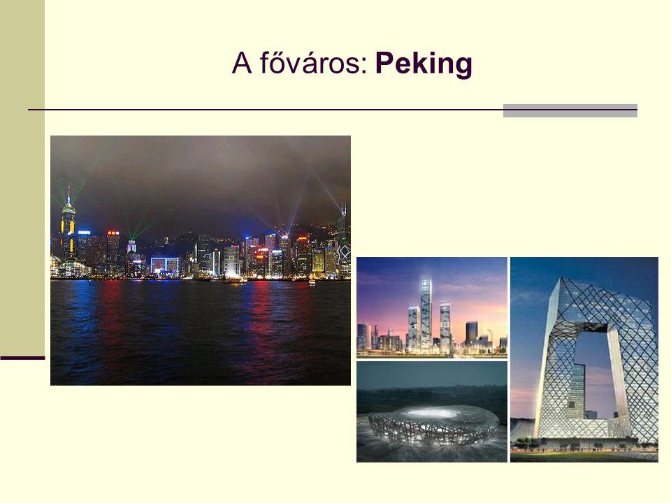 Peking jellemzői:  Peking Kína politikai, oktatási és kulturális központja.