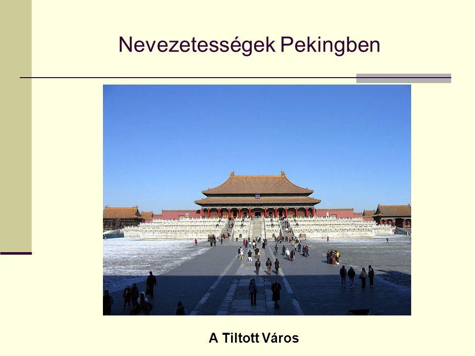 Nevezetességek Pekingben A Tiltott Város