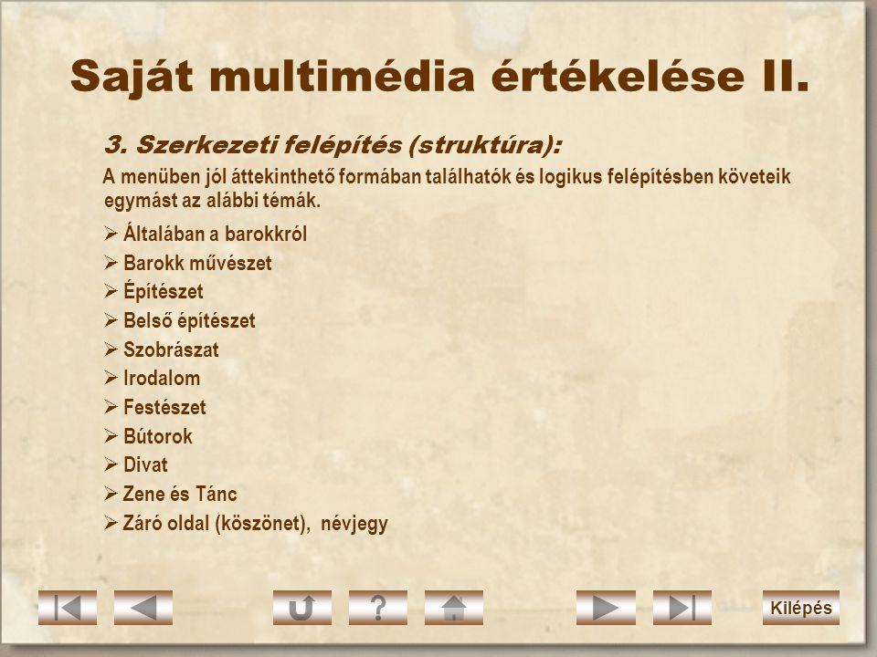 Saját multimédia értékelése II.3.