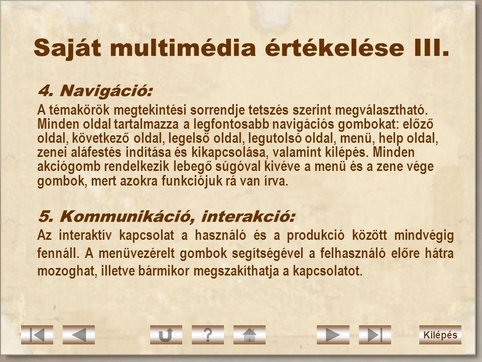Saját multimédia értékelése III.4.