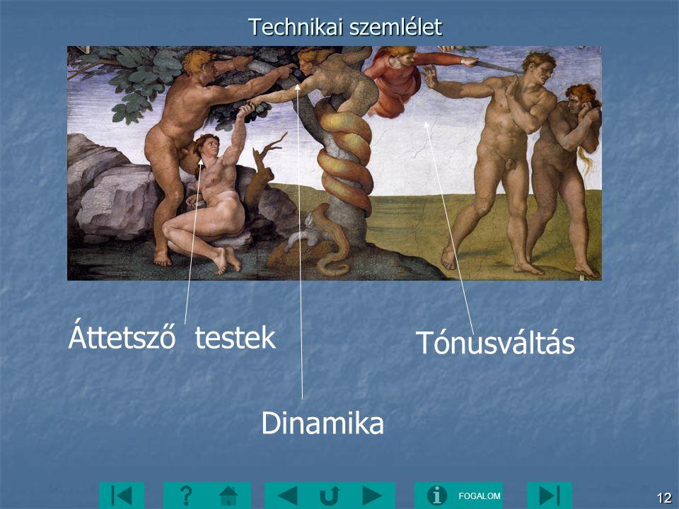 FOGALOM 12 Technikai szemlélet Áttetsző testek Tónusváltás Dinamika