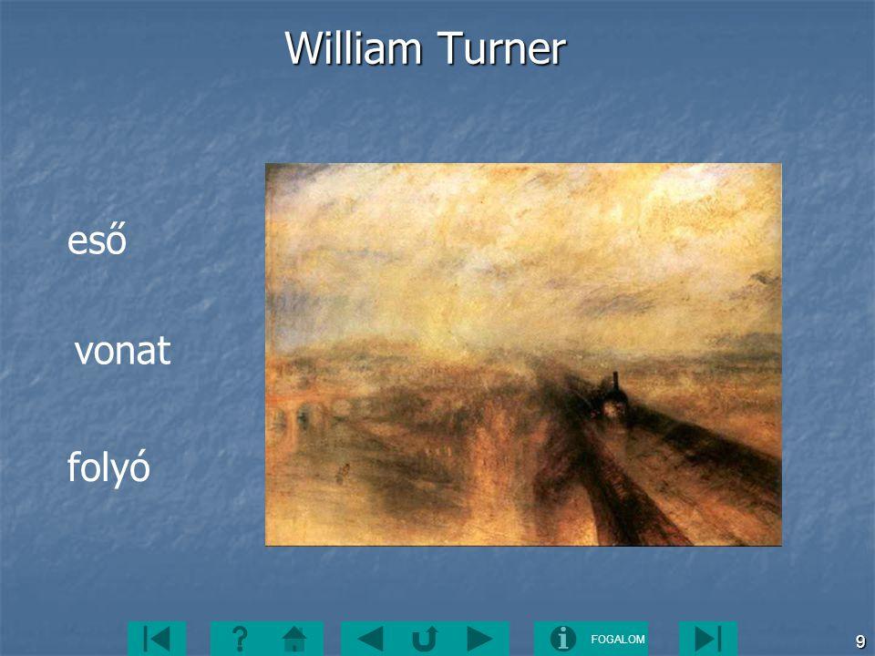 FOGALOM 9 William Turner folyó vonat eső
