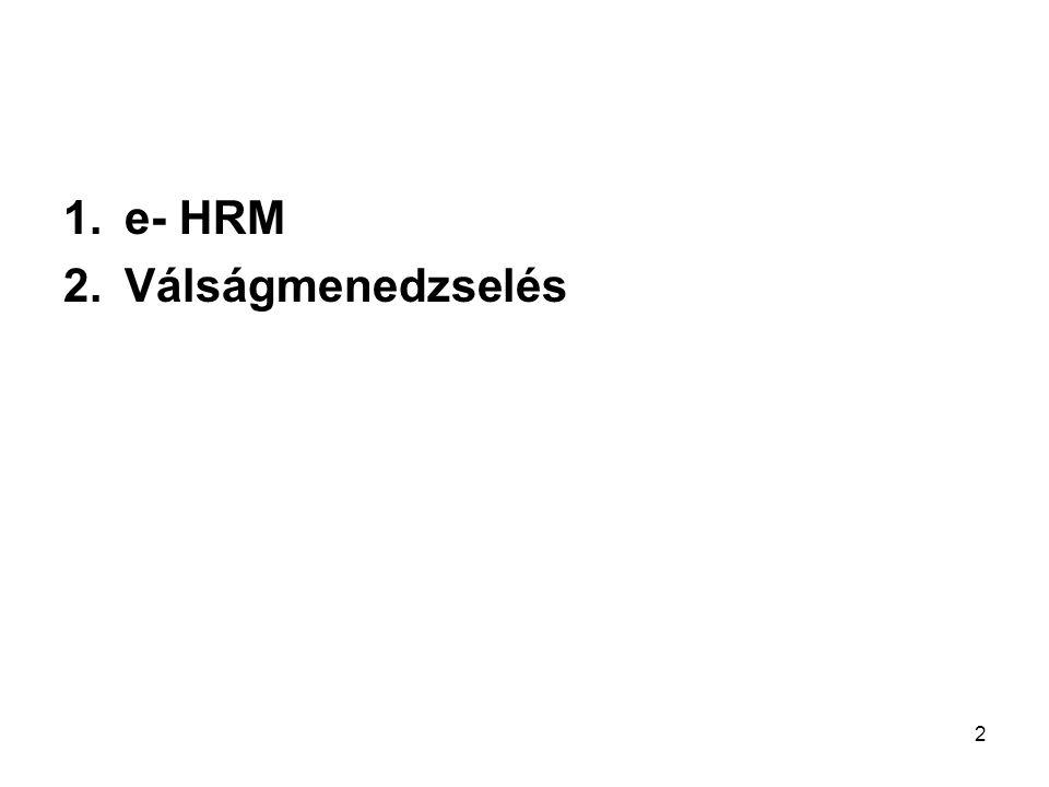 2 1.e- HRM 2.Válságmenedzselés