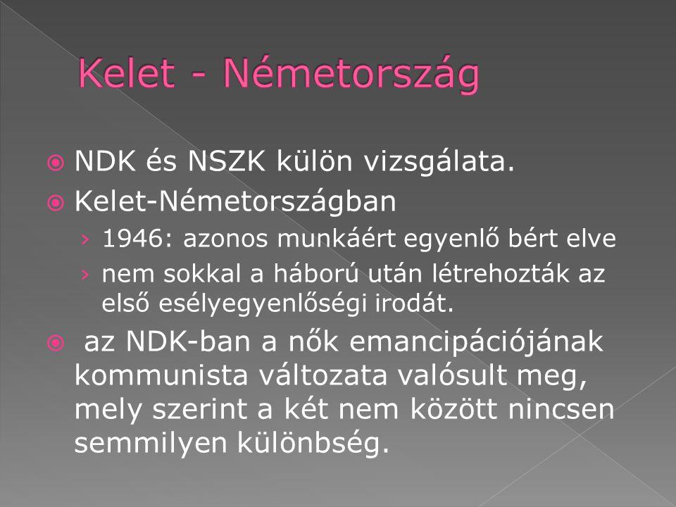  NDK és NSZK külön vizsgálata.