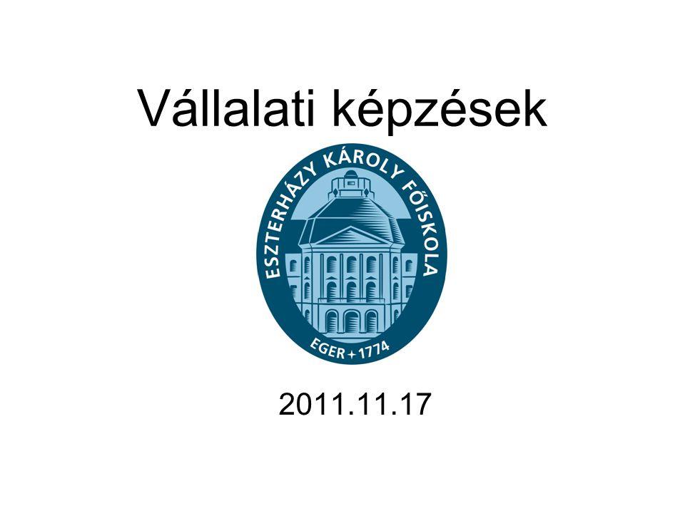 Vállalati képzések 2011.11.17