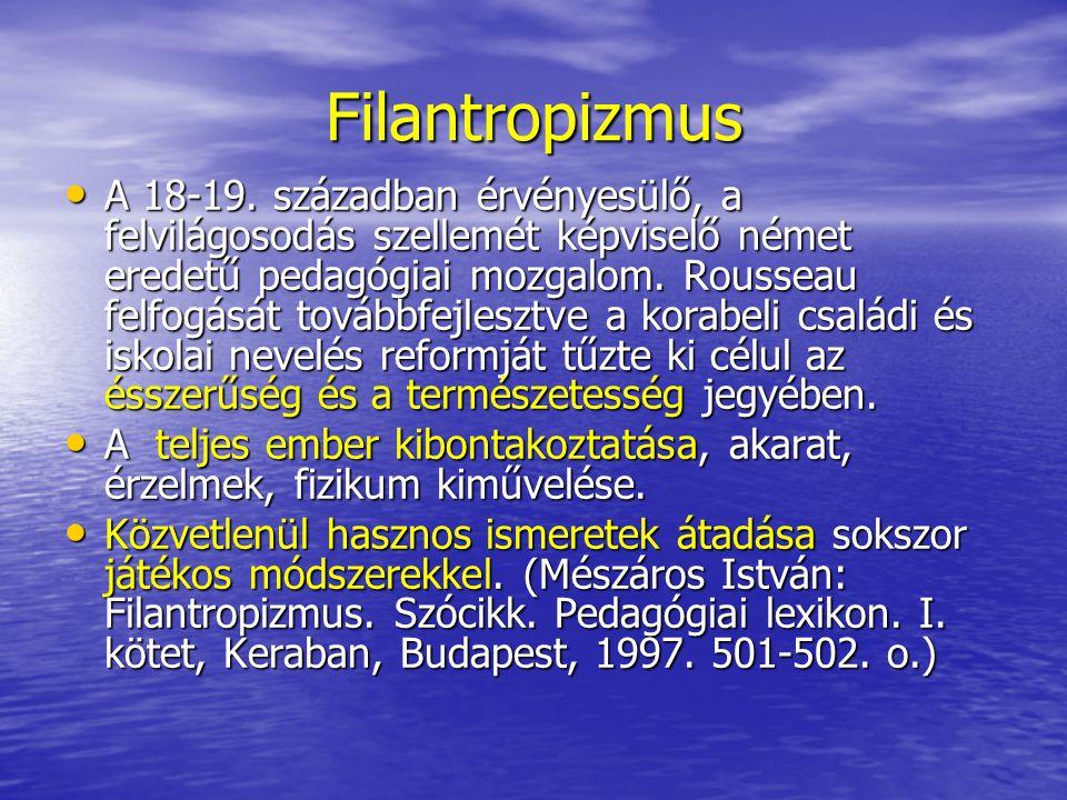 Neohumanizmus Német filológus egyetemi tanárok mozgalma a 19.