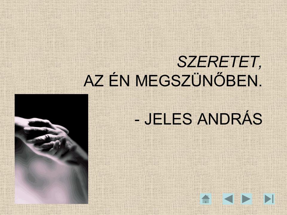 SZERETET, AZ ÉN MEGSZÜNŐBEN. - JELES ANDRÁS