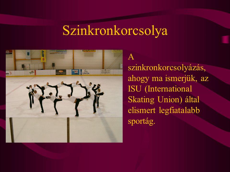 Szinkronkorcsolya A szinkronkorcsolyázás, ahogy ma ismerjük, az ISU (International Skating Union) által elismert legfiatalabb sportág.