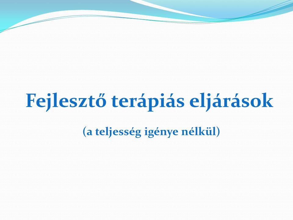 Fejlesztő terápiás eljárások (a teljesség igénye nélkül)
