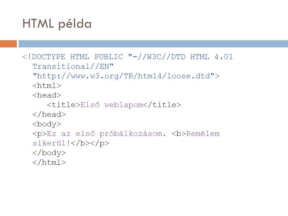 HTML példa Első weblapom Ez az első próbálkozásom. Remélem sikerül!