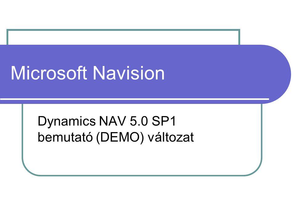 Microsoft Navision Dynamics NAV 5.0 SP1 bemutató (DEMO) változat