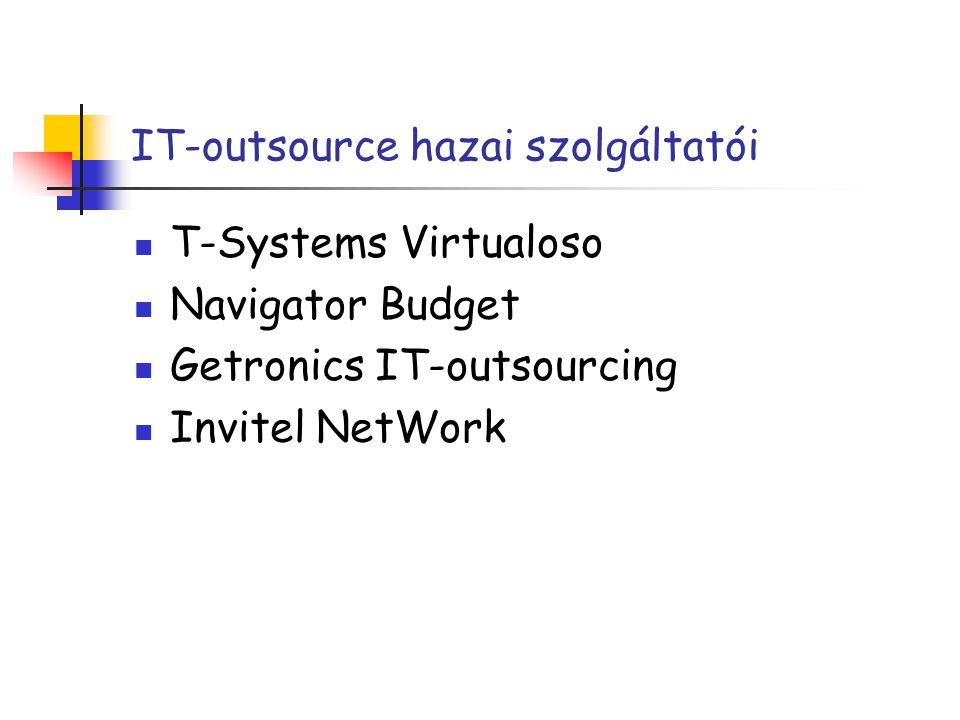 IT-outsource hazai szolgáltatói T-Systems Virtualoso Navigator Budget Getronics IT-outsourcing Invitel NetWork