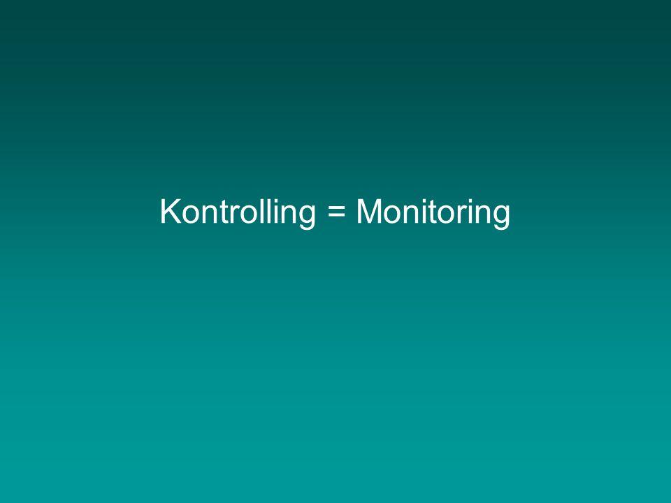 A monitoring rendszer alapja a projekttervezés