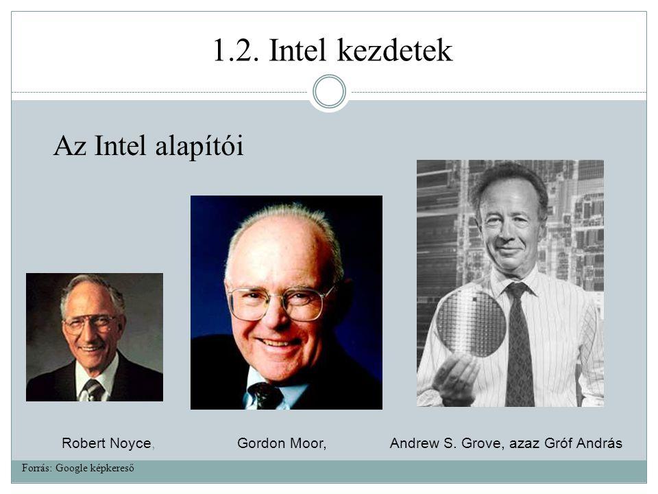 Robert Noyce, Gordon Moor, Andrew S.Grove, azaz Gróf András 1.2.