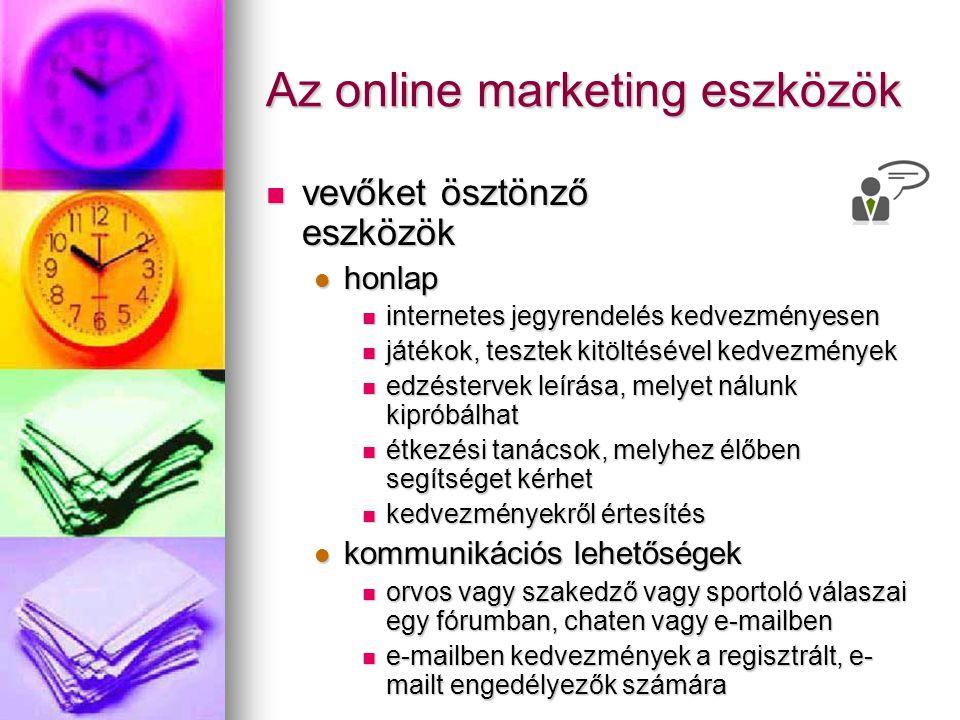 Az online marketing eszközök vevőket ösztönző eszközök vevőket ösztönző eszközök honlap honlap internetes jegyrendelés kedvezményesen internetes jegyr