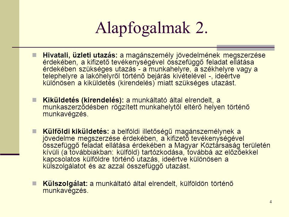 Az adótábla (Szja tv.) 30.§ Az adó mértéke, : Hatályos 2014.
