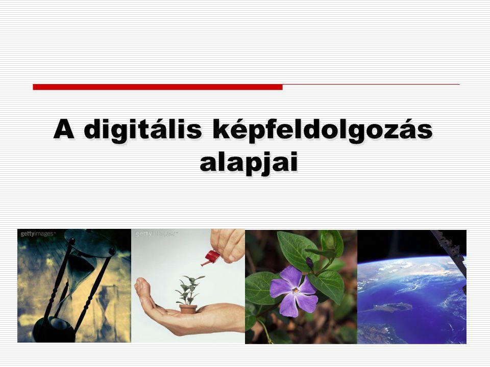 A digitális képfeldolgozás alapjai A digitális képfeldolgozás alapjai
