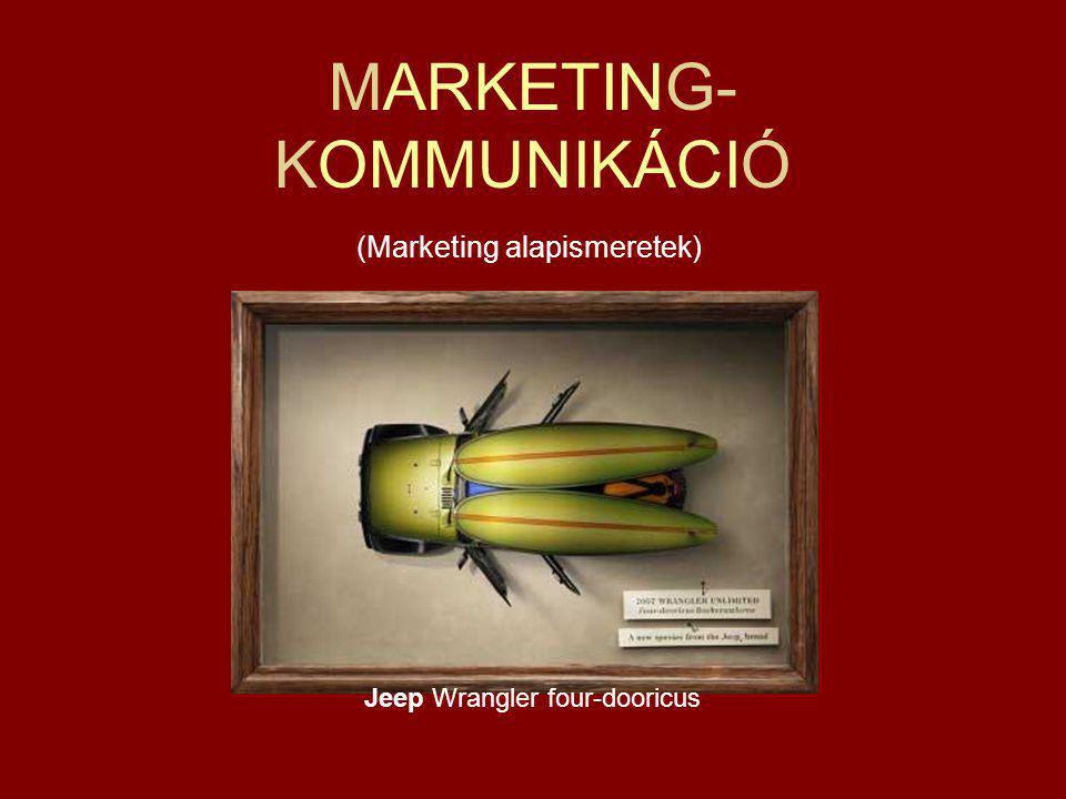 MARKETING- KOMMUNIKÁCIÓ (Marketing alapismeretek) Jeep Wrangler four-dooricus