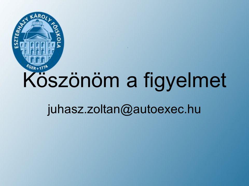 Köszönöm a figyelmet juhasz.zoltan@autoexec.hu