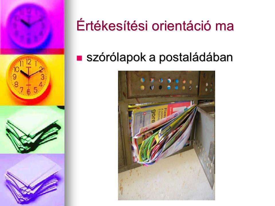 Értékesítési orientáció ma szórólapok a postaládában szórólapok a postaládában