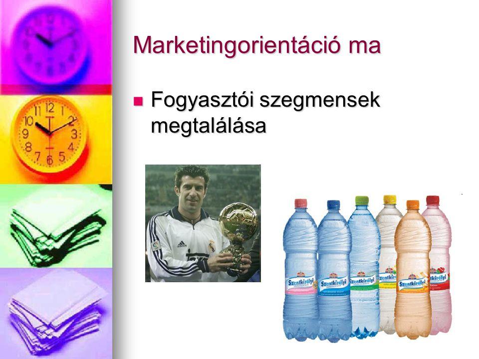 Marketingorientáció ma Fogyasztói szegmensek megtalálása Fogyasztói szegmensek megtalálása