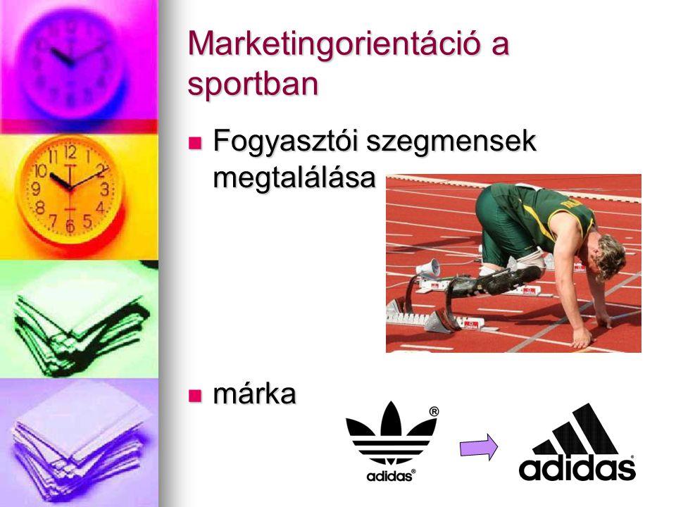 Marketingorientáció a sportban Fogyasztói szegmensek megtalálása Fogyasztói szegmensek megtalálása márka márka