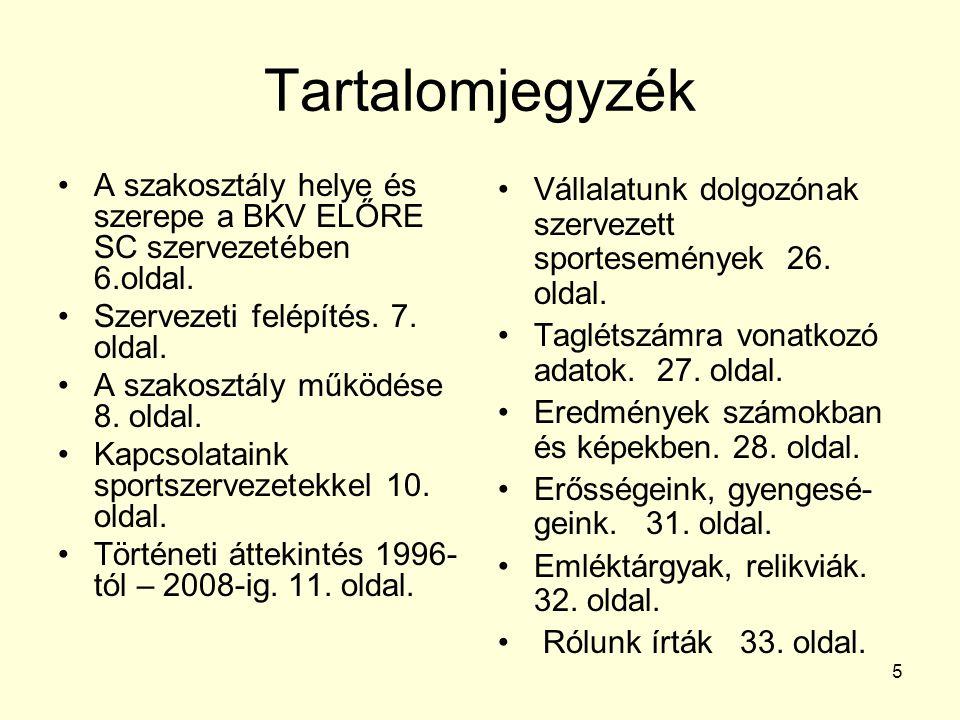 36 Felhasznált irodalom: BKV ELŐRE SC honlapja: www.bkveloresc.hu www.bkveloresc.hu A BKV ELŐRE SC Szabadidősport Futó- és Triatlon Szakosztály 12 éves története.