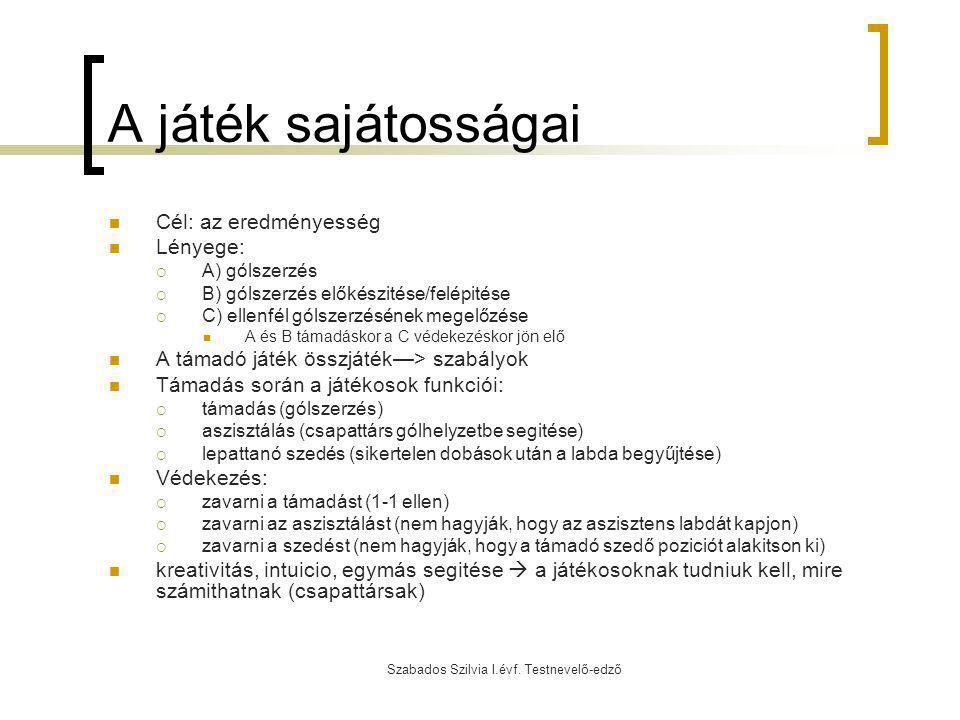 Szabados Szilvia I.évf.Testnevelő-edző A korfball technikai elemei 4.