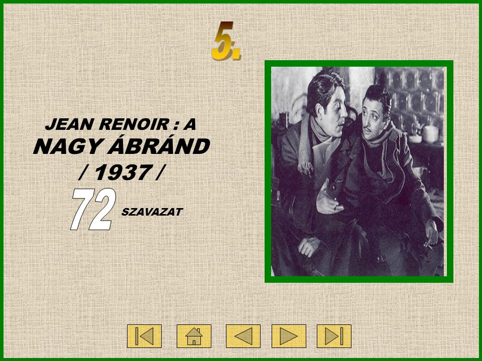 JEAN RENOIR : A NAGY ÁBRÁND / 1937 / SZAVAZAT