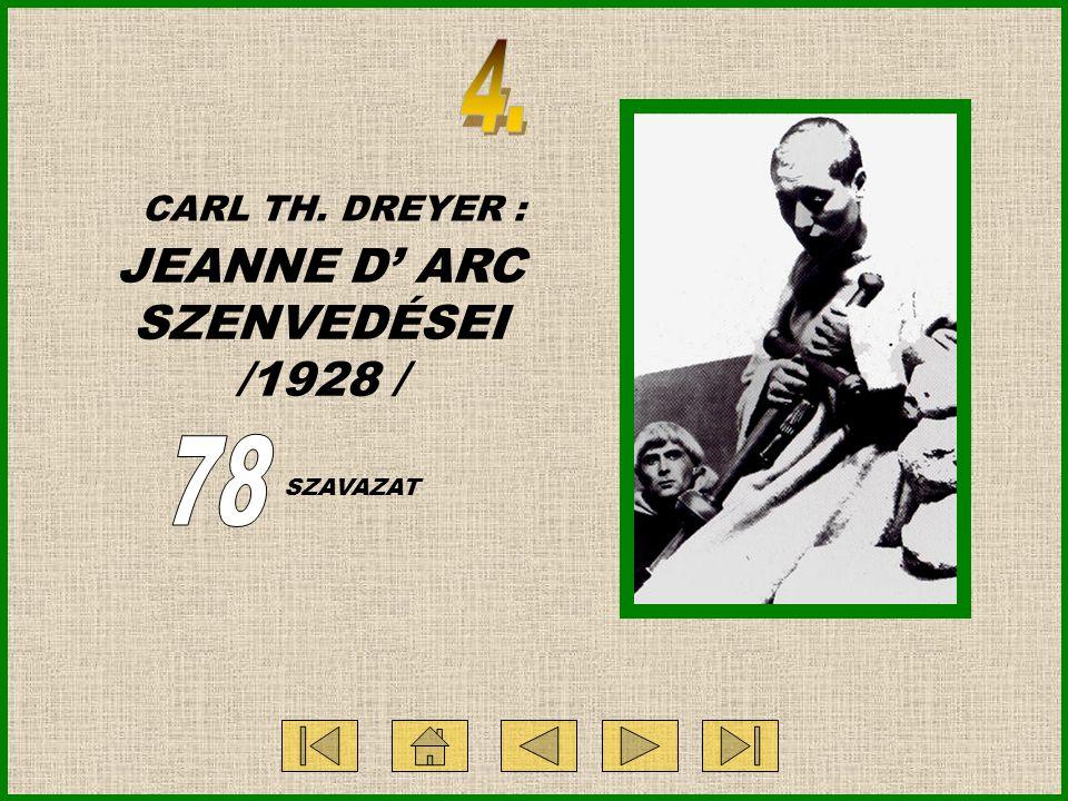 CARL TH. DREYER : JEANNE D' ARC SZENVEDÉSEI /1928 / SZAVAZAT