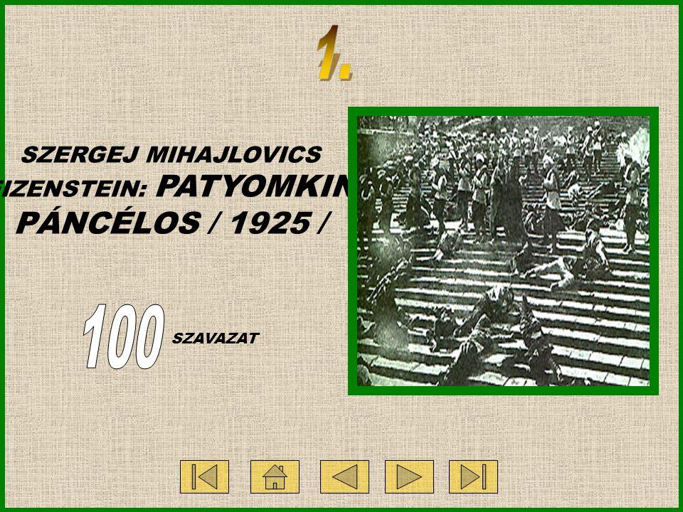 SZERGEJ MIHAJLOVICS EIZENSTEIN: PATYOMKIN PÁNCÉLOS / 1925 / SZAVAZAT